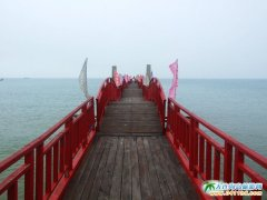 十分浪漫的黄金海岸红浮桥(图片)