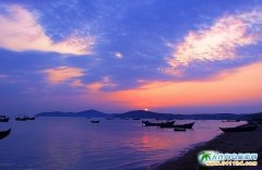 广鹿岛图片-彩虹滩的日出