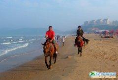 西中岛海边的骑马人