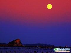 大连哈仙岛图片―海上生明月