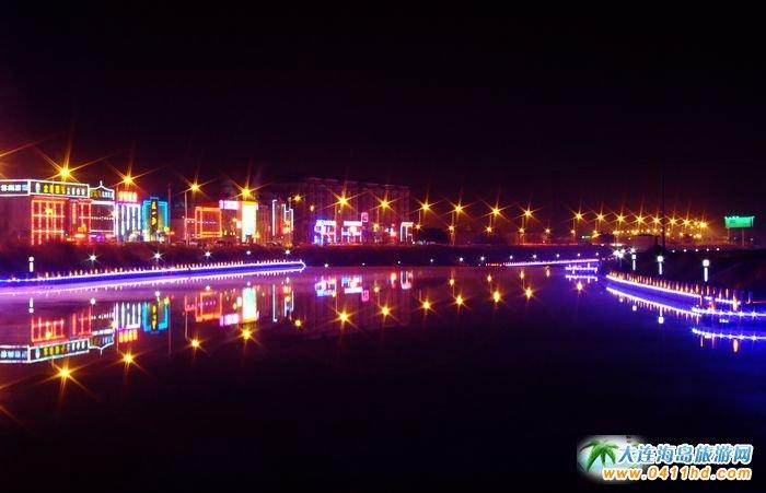 营口思拉堡温泉小镇图片 夜景 3图片