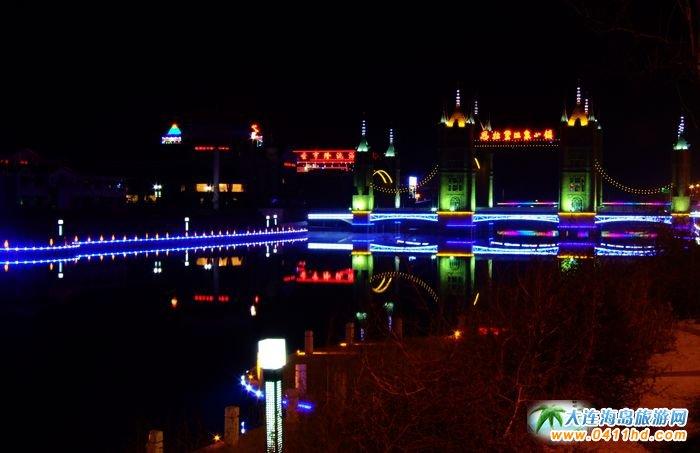 营口思拉堡温泉小镇图片 夜景 6图片