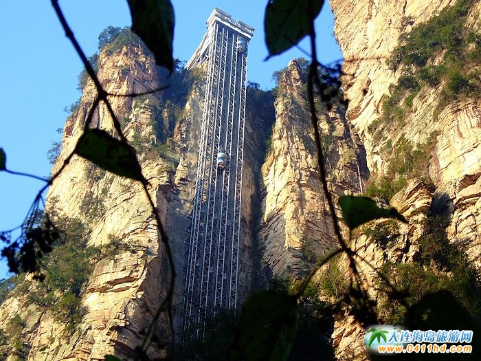 张家界旅游景点-百龙天梯2