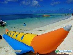 塞班岛旅游图片-天海之间香蕉船