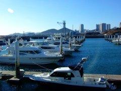大连星海湾游艇码头图片