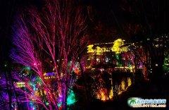 营口虹溪谷温泉酒店――室外温泉夜景图片