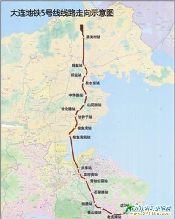 大连地铁线路与各大站点一览图片