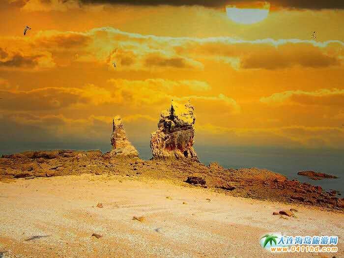 石城岛图片――鸟岛上的奇礁异石