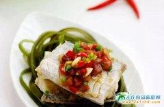 海带新吃法:海带丝腊味蒸