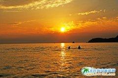 【西中岛--日落】西中岛满足我对大海落日余晖的所有幻想