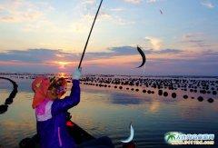 海洋岛图片――落日,美女,海韵