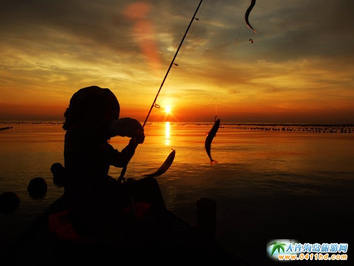 海洋岛图片――落日,美女,海韵2