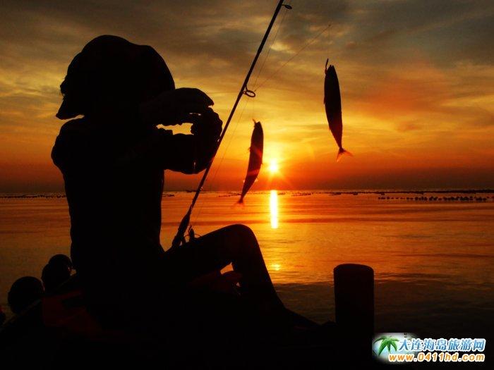 海洋岛图片――落日,美女,海韵5