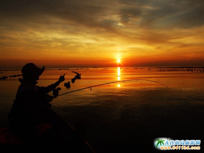 海洋岛图片――落日,美女,海韵6