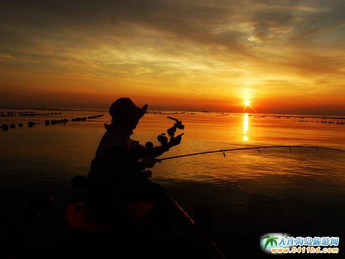 海洋岛图片――落日,美女,海韵7