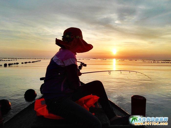 海洋岛图片――落日,美女,海韵24