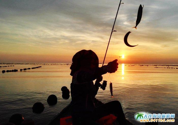 海洋岛图片――落日,美女,海韵34