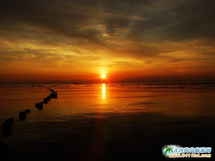 赤色天霞――海洋岛日落图片4