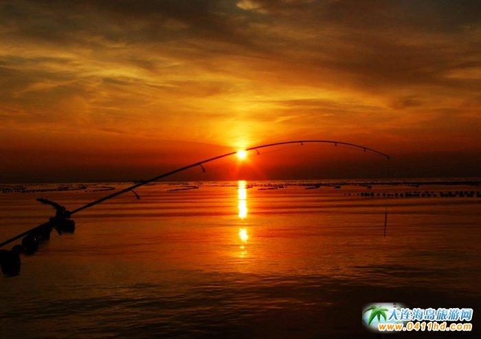 赤色天霞――海洋岛日落图片5