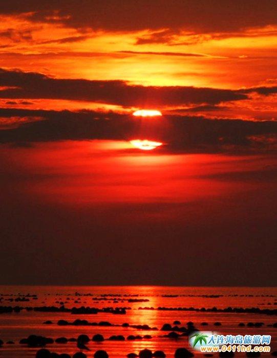 赤色天霞――海洋岛日落图片8