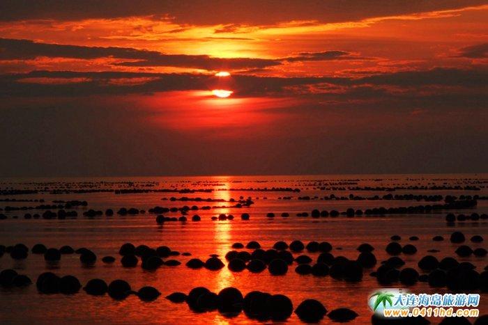 赤色天霞――海洋岛日落图片9