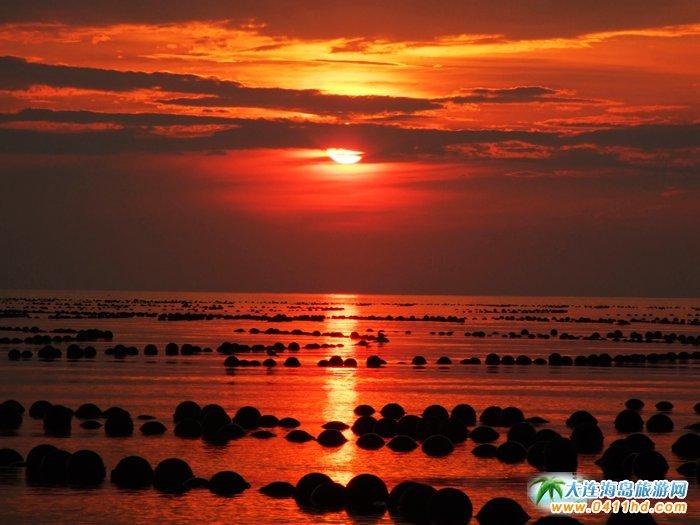 赤色天霞――海洋岛日落图片10