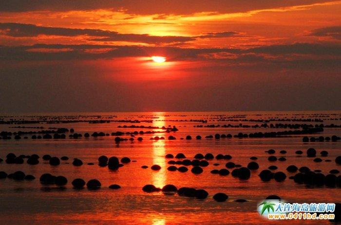 赤色天霞――海洋岛日落图片11