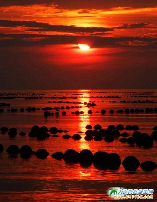 赤色天霞――海洋岛日落图片12