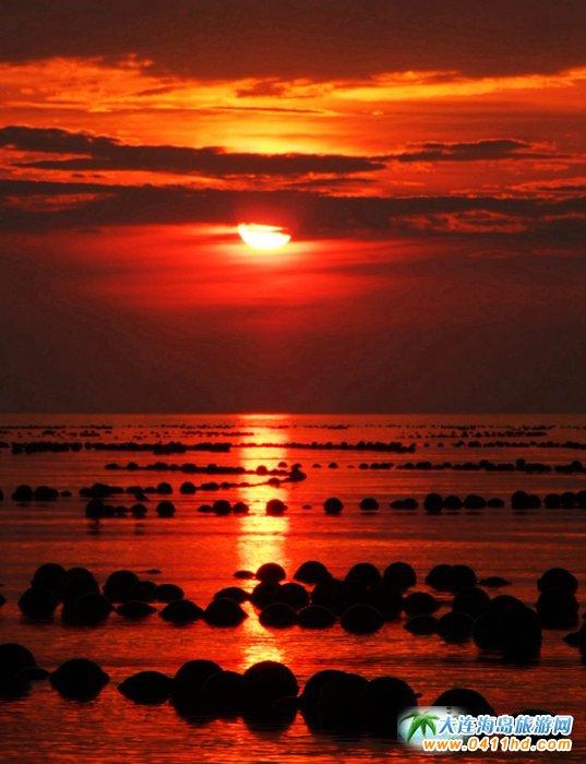 赤色天霞――海洋岛日落图片13