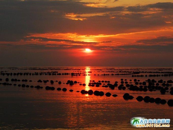 赤色天霞――海洋岛日落图片14