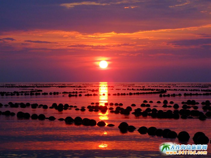 赤色天霞――海洋岛日落图片18