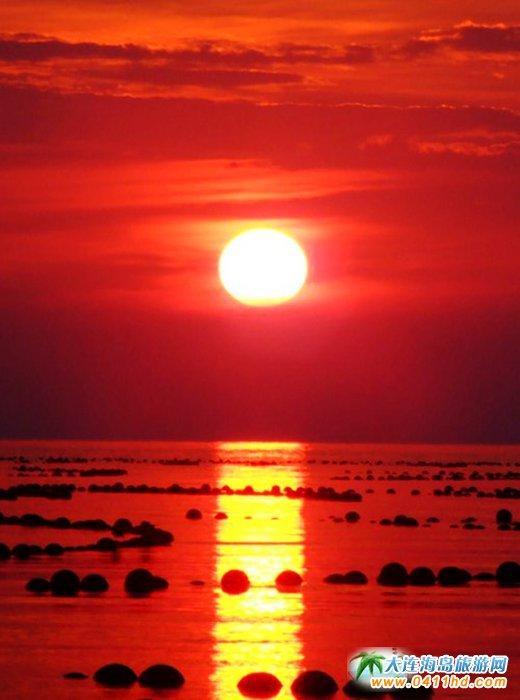 赤色天霞――海洋岛日落图片19