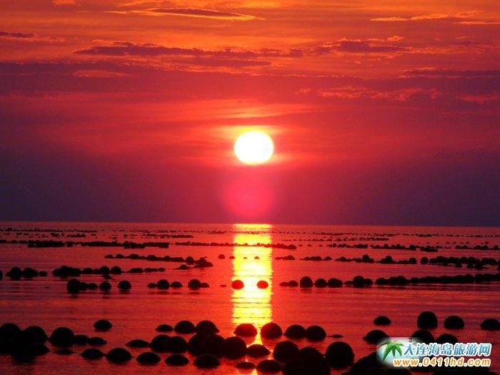赤色天霞――海洋岛日落图片20