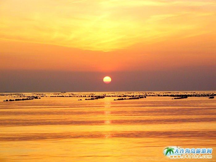 金光海色――大连海洋岛夕阳图片11