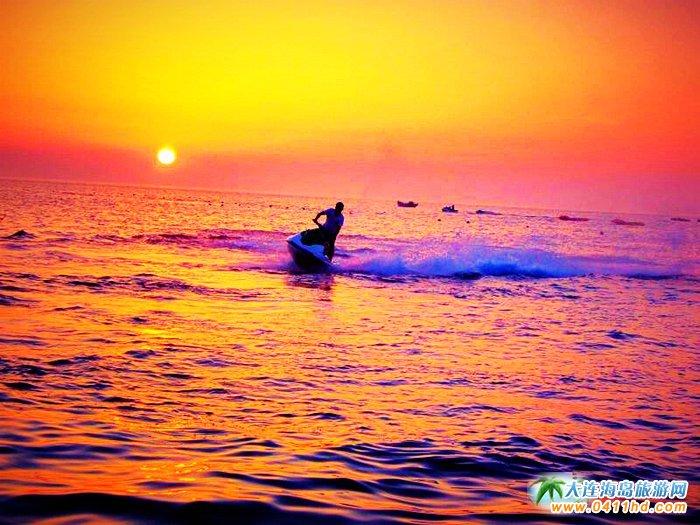 大连西中岛图片-夕阳,激情,游艇3