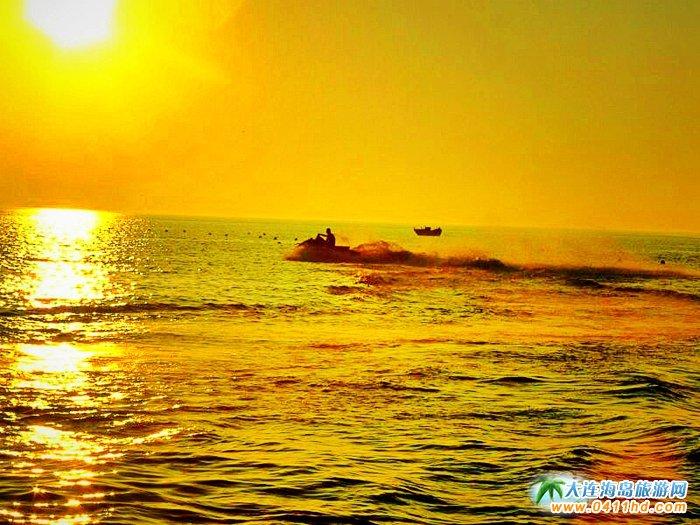 大连西中岛图片-夕阳,激情,游艇5