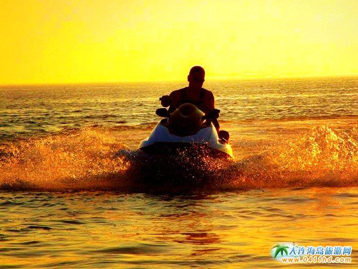 大连西中岛图片-夕阳,激情,游艇6