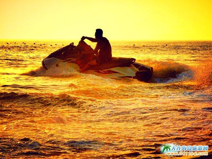 大连西中岛图片-夕阳,激情,游艇8