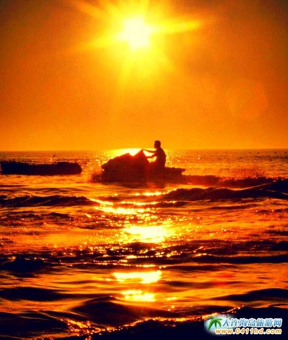 大连西中岛图片-夕阳,激情,游艇9