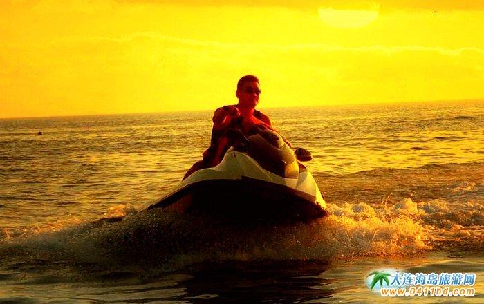 大连西中岛图片-夕阳,激情,游艇10
