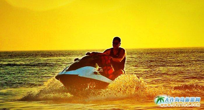 大连西中岛图片-夕阳,激情,游艇11