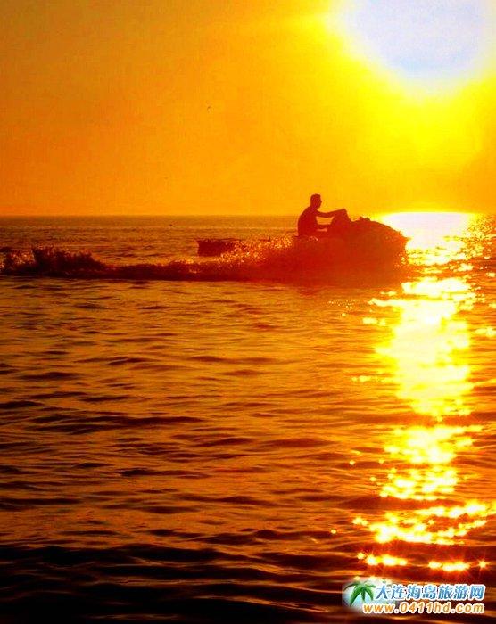 大连西中岛图片-夕阳,激情,游艇12