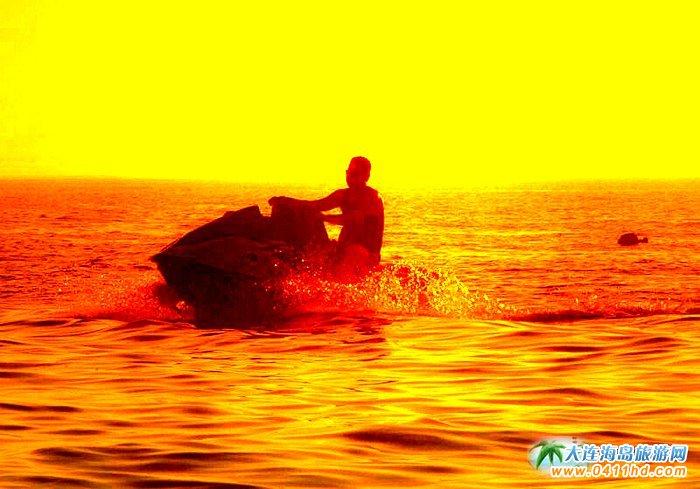 大连西中岛图片-夕阳,激情,游艇13