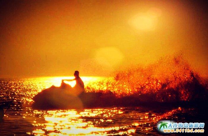 大连西中岛图片-夕阳,激情,游艇14