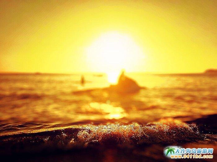 大连西中岛图片-夕阳,激情,游艇15