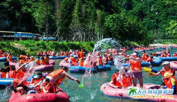 2017年大连庄河天门峡、天门山漂流预计6月23日正式开启序幕