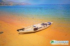 獐子岛金沙碧海浴场,水清沙幼,滩平浪缓