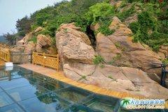 小长山岛小水口玻璃栈桥图片