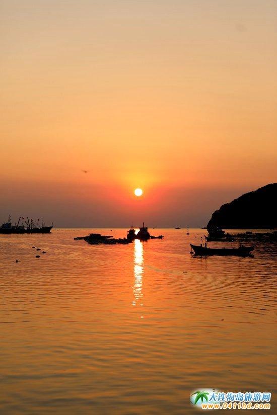 2017年海洋岛开渔节的那一轮夕阳2