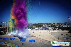 2018大连国际沙滩文化节嬉水狂欢节在黄金海岸喷泉广场